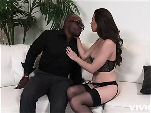 mind-blowing Casey Calvert taking her lessons in her facehole