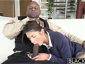 BLACKED Real Model with ideal hooters likes black man rod