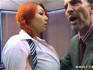 busty schoolgirl Harmony Reigns shafted by the dean