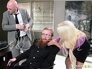Bank robbing babe Bridgette B plows in front of the boss