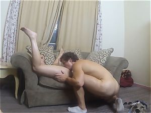Jade Nile sloppy pulverize in a motel apartment