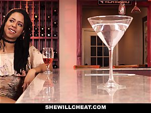 SheWillCheat - hotwife wife drills bbc in douche