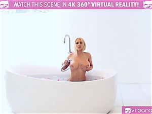 steamy blondie Alix Lynx cought by beau stroking