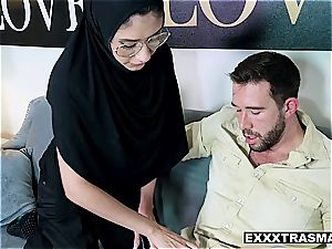 Hijab babe takes it in the backside to save her purity