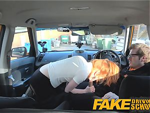 fake Driving school uber-cute ginger-haired Ella Hughes humps