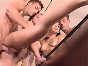 Pint sized Sara Luvv penetrates her fathers pal