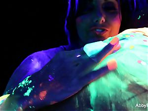 gorgeous blacklight fun with Abigail Mac