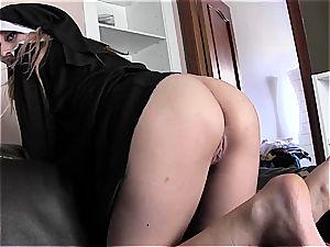 spunking a nun's facehole