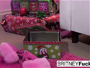 Britney finds a Christmas gift
