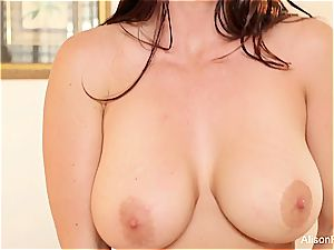 Alison Tyler's tits can only get more ideal when decorated with jizz