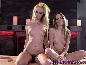 teenager and massagist lesbian