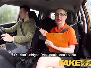 fake Driving school examination failure leads to red-hot hook-up