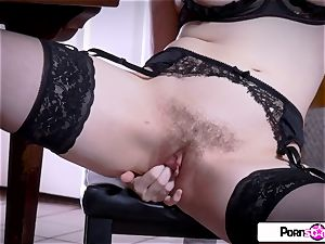 watch Jessica undress down and delight her rosy labia