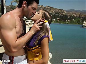warm cheerleader Presley Hart tear up outdoors