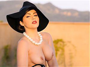 spunky babe Valentina Nappi looks awesome as she plays