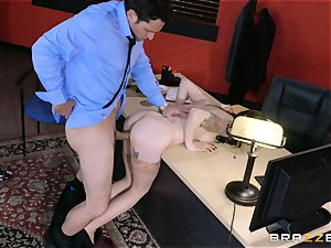 Anna De Ville ravages her job interviewee
