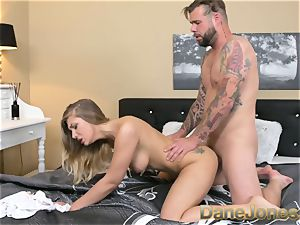 Dane Jones stellar cock-squeezing towheaded laps up a mouthhole