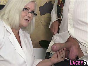 granny loves xxx 4some lovemaking