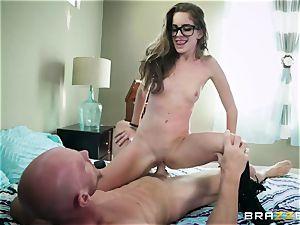 accomplished professor Johnny Sins penalizes insane schoolgirl in glasses Kimmy Granger