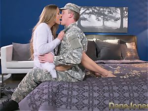 Dane Jones rock-hard deep-throating and poking dirty Army wifey