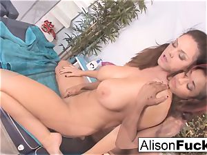 stunning flesh uses her fingers and mouth to massage Alison