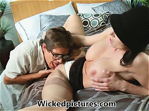 Kendra enthusiasm helps out a super-naughty man with his problem