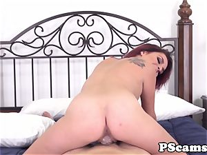 red-haired webcam babe Ashlee Graham cockriding