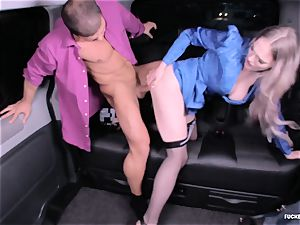 penetrated IN TRAFFIC - super-steamy car sex with brit Carly Rae