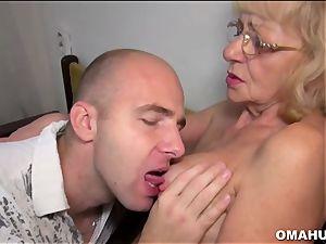 Lusty Mature mega-slut drilled by a insane boy