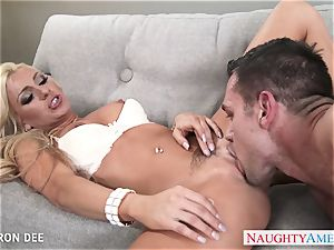 excellent blondie Cameron Dee gives fellatio
