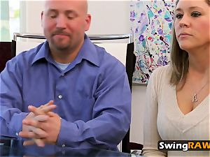 Swingers heated up with striptease show
