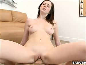 Victoria Voss slides her raw fuckbox down his rock-hard manhood