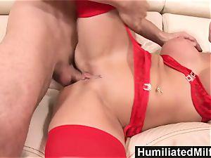 HumiliatedMilfs naughty secretary enjoys a gigantic spear