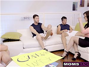 cuckold mummy pulverizes son-in-law And buddies When Hubbys Away