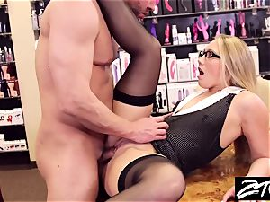 AJ Applegate secretary takes it up the butt her chief