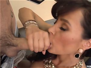 An experienced 50-year-old lecturer Lisa Ann has fuck-fest with her young college girl in class