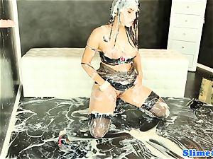 Valentina Nappi gets WAM with mass ejaculation cum