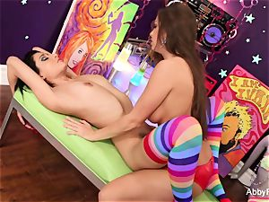 Abigail Mac has tough great lezzie joy with Lily Evans