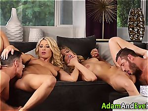 erotic duo and jism exchange with scorching blondes