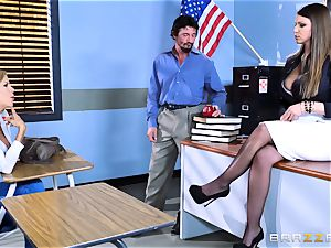 Brooklyn chase plows her college girls parents