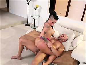 inked fuckslut Christy Mack gets her puss pounded by her husband's mate