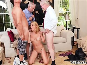 meaty breasts brunette fledgling oral job Frannkie And The gang Tag team A Door To Door Saleswoman