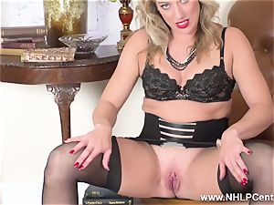 ash-blonde finger penetrates raw puss in girdle antique nylons