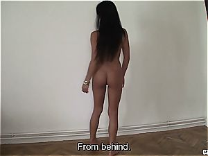 young Czech unexperienced sweetie gets firm rear end fashion