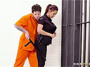 Don't spurt the soap in Brazzers prison