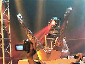 buxomy milf lapdance on stage