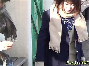 chinese college girls pee