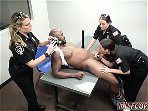 first-timer housewife dual and dark-hued girl enormous bootie ass fucking milky dude mummy Cops
