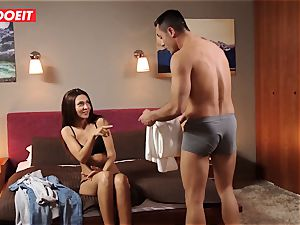 euro nubile Gets Help and ginormous fuckpole from Stranger