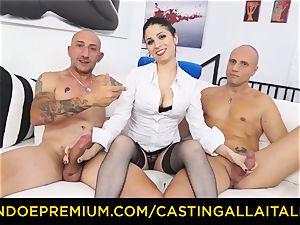 casting ALLA ITALIANA - warm cougar has double buttfuck fun